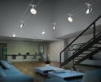 Trio LED Seilsystem Pilatus 5x3,8W Seilset 775910506 5 meter Lampe Seilspann Neu