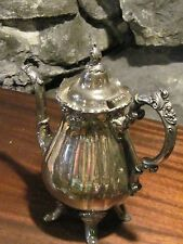 Vintage Wallace Baroque silver plate footed teapot