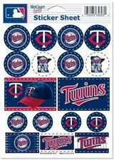 Minnesota Twins ~ Lot of (17) Stickers ~ 5x7 Inch Sheet