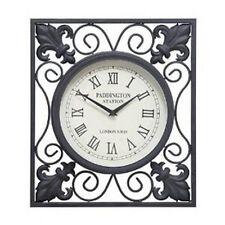 Benzara Metal Outdoor Wall Clock 16 Height, 14 Wide 35415 New
