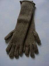 New: Fedeli Cashmere Camel Brown Rib Knit Gloves size Small