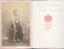 AD.Braun, canton d'Unterwalden, costumes suisses Vintage CDV albumen carte