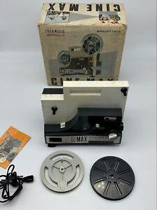 Proiettore Cine Max k6 Automatic 8+ Super 8 Bipasso Zoom Completo Con Scatola