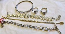 Vtg Bracelets-Rings SIX 6-STERLING SILVER JEWELRY 51.8 Grams MIXED LOT