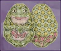 MILL HILL JIM SHORE Counted Cross Stitch Kit - FROG EGG JS18-1811
