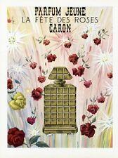"""""""PARFUM JEUNE CARON"""" Annonce originale entoilée PLAISIR DE FRANCE 1951"""