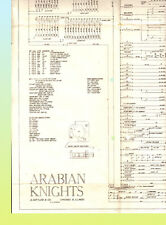 Arabian Knights 1953 Gottlieb Pinball Schematic Original!