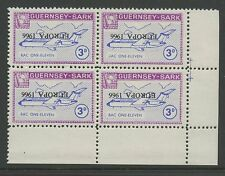 Guernsey SARK 1966 Europa 3d INVERTED ovpt ERROR block4