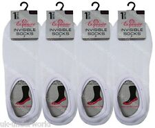 6 Pairs White Ladies Girls Invisible Trainer Socks Liners Size UK 4 - 7