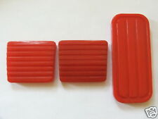 VW MK1 GOLF BRAKE CLUTCH AND GAS PEDAL RUBBERS RED GTI