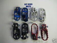 RQ Trials Bike Alloy Aluminium Footrests. 4 Colours, ALL MODELS. UNIVERSAL FIT