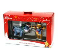 Hallmark Disney Winnie the Pooh Ornament Set Pooh and Eeyore Christmas Themed
