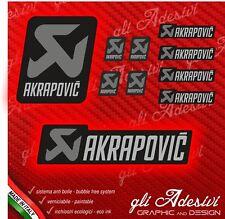 Kit 10 Adesivi Akrapovic Grey resistente al calore