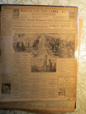 Gettysburg Grand Reunion of Confederate & Union Veterans 1913 Newspaper
