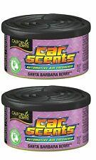 2 Pack of California Scents Santa Barbara Berry Car & Home Air Freshener Can Tin