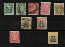 Rhodesia, KGV admirals, small selection unsorted up to 4d (R012)