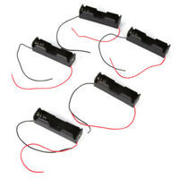 10PCS Black Plastic Battery Holder Storage Case Box For 18650 Wire Cable Lead