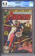 Avengers #195 CGC 9.2 (1980) - 1st Cameo appearance of TASKMASTER - Near Mint