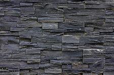 Muro de piedra un muro de piedras negro fotomural Asian Stonewall 140cm x 100cm