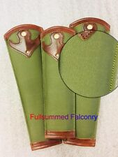 Falconry tail guard with bell slit or clip