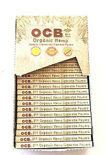 OCB Organic Hemp Cigarette Rolling Papers BOX -1 1/4 - 24 Packs- 50 Leaves each