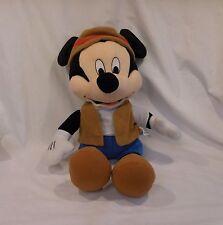 "Disney Mickey Mouse California Adventure Gone Fishing Safari 18"" Plush Park Rang"