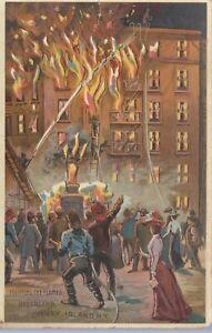 Postcard--Hold to Light Dreamland Fire coney Island N.Y.-----a14
