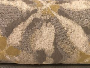 """Grey & Mustard Multi-colored Handmade cushion with feather insert - 24x12.5"""""""