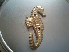Vtg cast  Brass Seahorse Hook Coat Robe Hanger