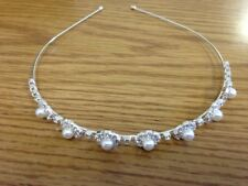 Crystal Rhinestone Pearl Headband Wedding Bridal Tiara Hair Band Head Piece