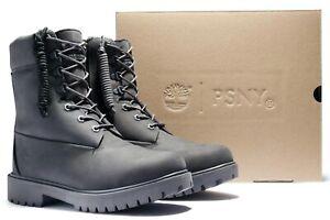 Timberland PUBLIC SCHOOL NEW YORK Premium 8 in Grey Leather Combat Boots 11 $240