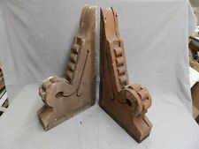 Antique Pair Wood Corbels Bracket Decorative Old Victorian Vtg Gingerbread 24-16