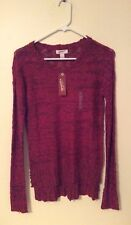 NEW Arizona Jean Co. Designer Ladies Womens Ruby Pink Red Sweater Extra Small