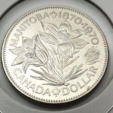 1970 Canada Manitoba Nickel Dollar One Dollar Canadian Coin Not In Case C565