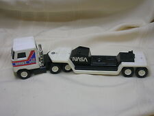 Buddy L Corp. Toy Semi-truck Cab and Flatbed Metal & Plastic NASA Space Shuddle