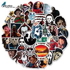 50Pcs Mixed Horror Movie Character for Skateboard Sticker Vinyl Laptop Stickers
