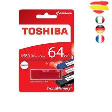 PENDRIVE 64GB TOSHIBA USB 3.0 MEMORIA 2.0 64 GB ORIGINAL PEN DRIVE ROJO
