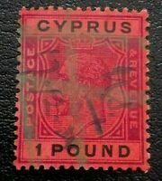 Cyprus:1924 King George V - New Design. 1£ .Rare & Collectible Stamp.