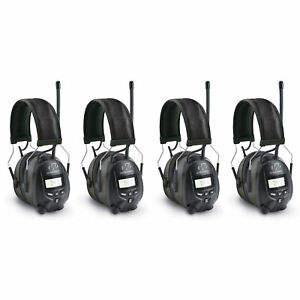 Walkers Hearing Protection Over Ear AM/FM Radio Earmuffs, 4 Pack | GWP-RDOM