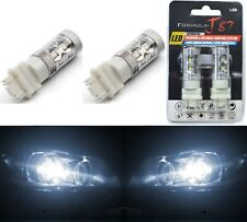 LED Light 50W 4157 White 5000K Two Bulbs Front Turn Signal Replacement Stock Fit