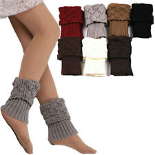 Women Cuffs Toppers Boot Knitted Socks Crochet Trim Leg Warmers Winter Stocking