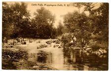Wappingers Falls NY -KIDS SITTING ALONG LITTLE FALLS ON CREEK- Postcard