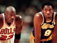 Jordan Kobe LA Lakers Chicago Bulls Photo Print Poster Glossy  8.5 x 11 inches