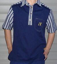1976 Original McDonalds Uniform Shirt Size -Small -Blue