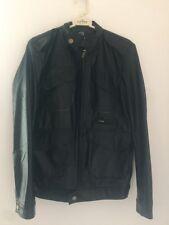 REVERIE UOMO Men's Black Synthetic Leather Jacket Size L