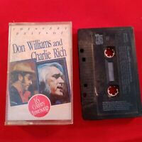 Cassette Tape The very best of Don Williams and Charlie Rich country love songs