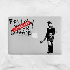 Banksy Siga los Sueños cancelado Calcomanía Para Macbook Pro Pegatina de vinilo Laptop Mac 13