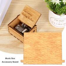 Retro Wooden Hand Cranked Music Box Board Accessories Xmas Kids Gift Decor Kits