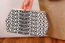 large black & gold geometric deco pattern clutch bag/ shoulder bag wedding/prom