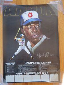 1954-1973 HANK AARON No 44 ATLANTA BRAVES Hits 713th HOME RUN Highlights Poster